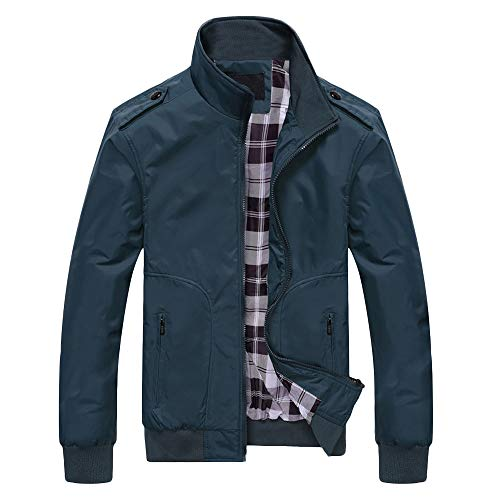 (Clearance Sale for Men Coat.AIMTOPPY Men's Casual Pure Color Long Sleeve Zip Jacket Windbreaker)