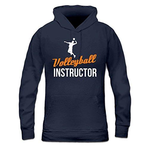Sudadera con capucha de mujer Volleyball Instructor by Shirtcity Azul marino