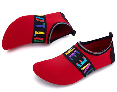 Giotto Sports Water Shoes Nuotare Yoga Beach Aqua Calze Per Donna Uomo Amore / Rosso