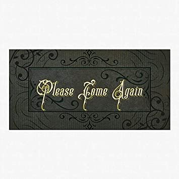 96x48 Please Come Again CGSignLab Victorian Frame Perforated Window Decal