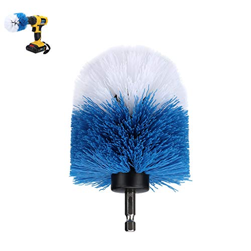 Iusun Drill Cleaning Brush,3.5'' Grout Power Scrubber Cleaning Kit, Tub Cleaner Brush Tile and Grout Kit Electric for Bathroom Kitchen Grout Floor Carpet Corners Automotive Grill (Blue)