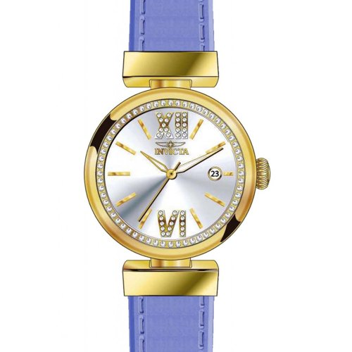 Invicta Wildflower Leather Crystal Ladies Watch - Blue