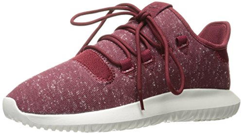 adidas Originals Men's Tubular Shadow Sneaker Running Shoe, Collegiate Burgundy/Crystal White, 10 D(M) -