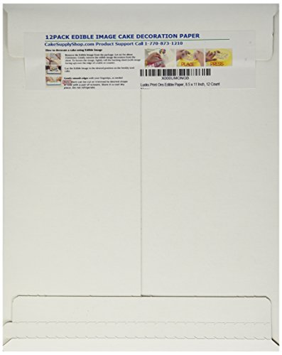 (Lucks Print Ons Edible Paper, 8.5 x 11 Inch, 12 Count)