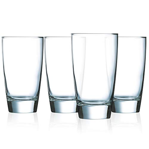 Luminarc N7403 Elite 15 Ounce Cooler Glass, Set of 4, 1, Clear ()
