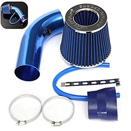 SODIAL 3 inch Universal Car Cold Air Intake Filter Alumimum Induction Kit Pipe Hose System red