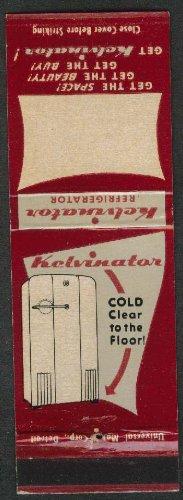 kelvinator-refrigerator-automatic-cook-electric-range-freezers-matchcover