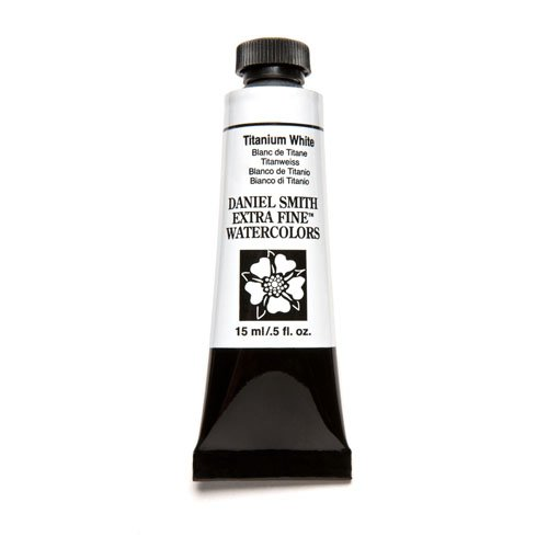 (DANIEL SMITH Extra Fine Watercolor 15ml Paint Tube, Titanium White)