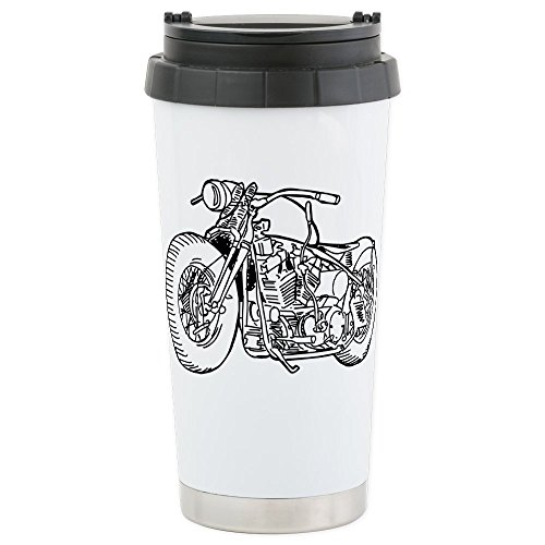 CafePress - Motorcycle Stainless Steel Travel Mug - Stainles