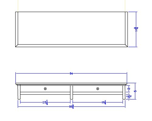 CUSTOM SIZE Wood Dual Monitor Stand with Drawer and Cubby