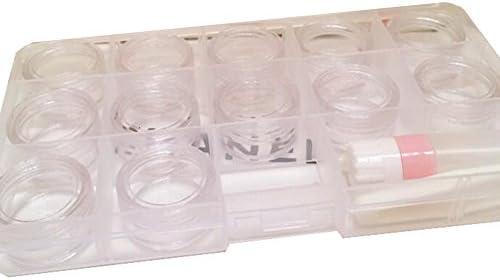 コンタクトレンズケース-ストレージ様々なコンタクトレンズ容器ホルダーボックス(ランダムカラー)