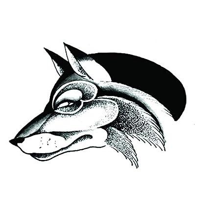 ruofengpuzi Lobo Dios Impermeable Tatuaje Temporal Hombres Egipto ...