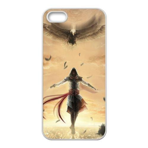 Ezio Auditore Da Firenze 009 coque iPhone 4 4S Housse Blanc téléphone portable couverture de cas coque EOKXLLNCD15715