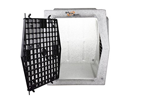 Ruff Tough Kennels Intermediate Double Door Side Entry Kennel, Crate, Dog House, (L-30 1/2', W-21 1/2', H-22 1/2') (White)