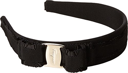 Price comparison product image Salvatore Ferragamo Women's 346970 P.TA Bello 3 Nero / Oro Chiaro Headband