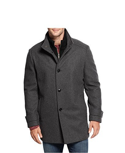 Marc New York Andrew Marc Men's Wool-Blend Knit-Bib Car Coat (2XL, - Blend Car Wool Coat