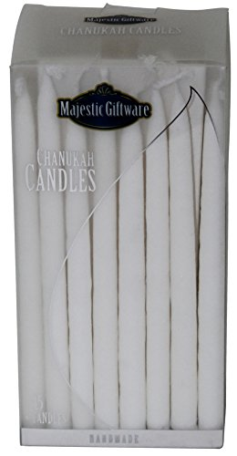 Majestic Giftware CP-WT 5'' White Premium Collection Chanukah Candles (45 Pack) by Majestic Giftware