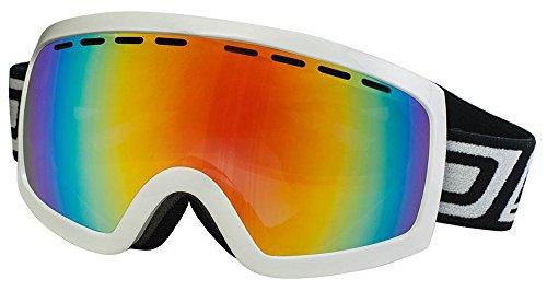 Dirty Dog 2013 DIRTY DOG medium-large ELEVATOR Ski Snow Goggles Shiny White / FIRE Fusion MIRROR - Goggles Snow Uk