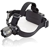 Cat Work Lights CT4205 380 lm Rechargeable Focusing Beam LED Headlamp with Adjustable Angle Head and Rear Hazard Light, Small, Black by Cat Work Lights