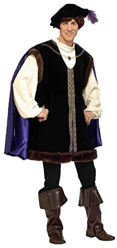 Renaissance Festival Halloween Costumes (Forum Novelties Men's Designer Collection Noble Lord Costume, Black,)