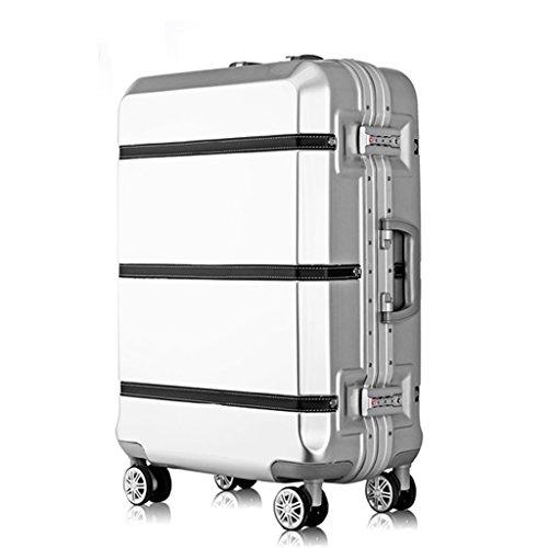 Boarding Gepäck 20,24,26,29 Zoll Business Travel Taschen Für Männer Und Frauen Zip Lock White ( größe : 24 inches )