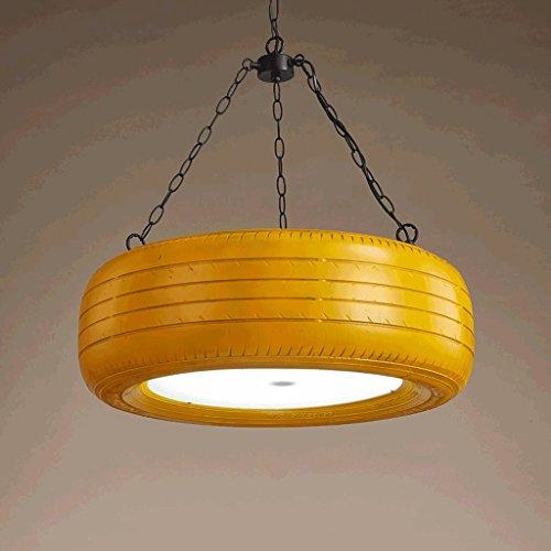 Luces Colgantes industriales Retros, Cubierta Creativa de la lámpara de los neumáticos del Color, cafeteras del Internet de...