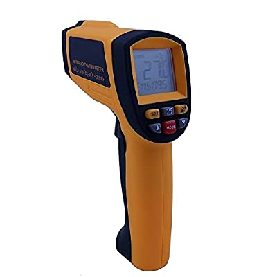 Laser Thermometer Gun,Amgaze LCD Digital Infrared Thermometer Pyrometer Laser Point Temperature -50°C-1150°C ( -58°F-2102°F )