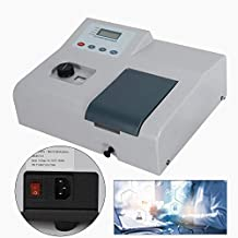 TBVECHI Vis Spectrophotometer Spectrometer721 LDC Digital Lab Equipment 350-1020nm Wave Tungsten Lamp Spectronic with Glass Cuvette