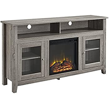 grey fireplace tv stand Amazon.com: Ameriwood Home 1775296Wildwood Fireplace TV Stand  grey fireplace tv stand