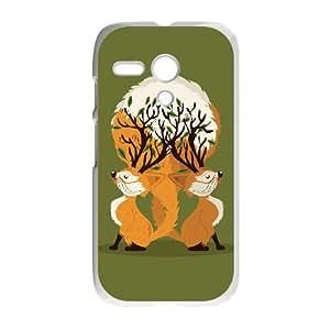 Motorola G Cell Phone Case White_Fox Tree Smucd