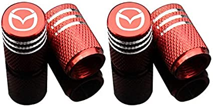azfdxgfc Sport Styling Auto Zubeh/ör Auto Reifen Ventilkappen Koffer f/ür Mazda 4 St/ück//Set