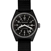 MARATHON WW194015 Swiss Made Military Field Army Watch with Date, Tritium, and Sapphire Crystal (Black)