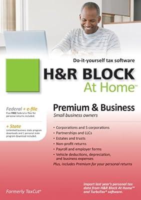 H&R Block At Home 2010 Premium & Business Federal + State + eFile