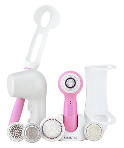 Soniclear Elite DELUXE Antimicrobial Facial Skin Cleansing Brush System, Cotton Candy by Michael Todd