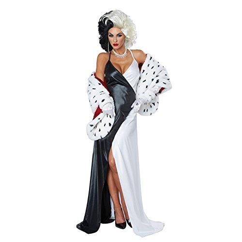 California Costumes Women's Cruel Diva Adult Woman, Black/White/red,