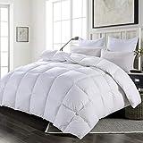 Oversized Down Comforter King Size HOMBYS Super King White Down Comforter Duvet Insert Goose Feather Comforter 116