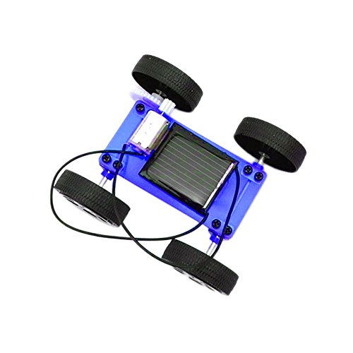 Diy Raptor Costume (Kanzd 1 Set Mini Solar Powered Toy DIY Car Kit Children Educational Gadget Hobby Funny (Blue))