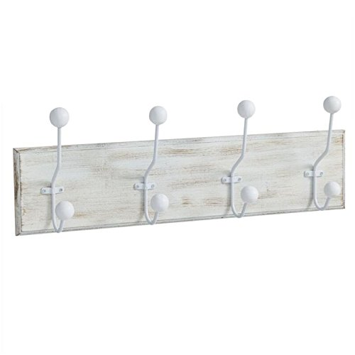Perchero de pared madera 4 ganchos Medida: 50X7,5X12 CM ...