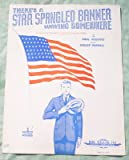 Ephemeral Sheet Music/War Bonds Ad, There's a Star Spangled Banner Waving Somewhere for Piano, Vintage (Not a Reproduction)