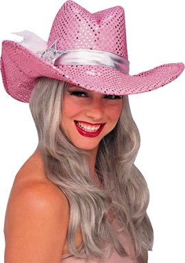Sequin Police Hat (Rubie's Costume Co Pink Sequin Cowgirl Hat Costume)