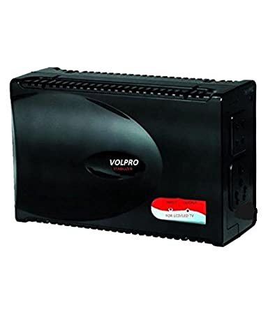VOLPRO LED/LCD/Smart TV Voltage STABILIZER  Black