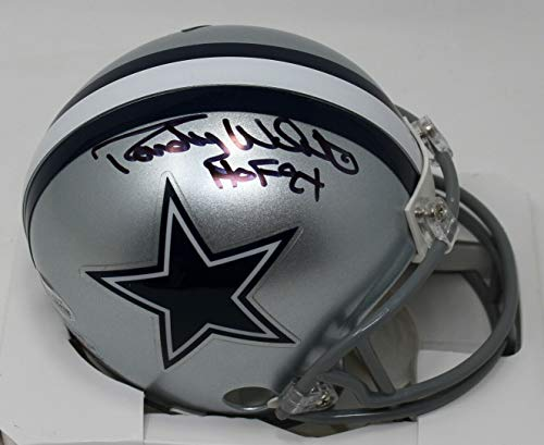 RANDY WHITE SIGNED AUTOGRAPHED DALLAS COWBOYS MINI HELMET BECKETT BAS #H64028