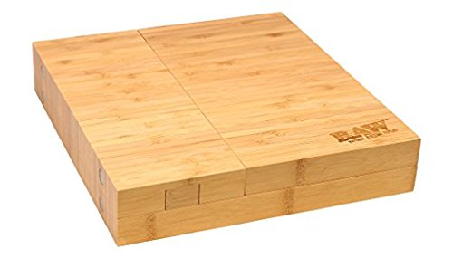 RAW ''Triple Flip'' Bamboo Magnet Rolling Foldable Tray with Built-in Ashtray by RAW (Image #2)