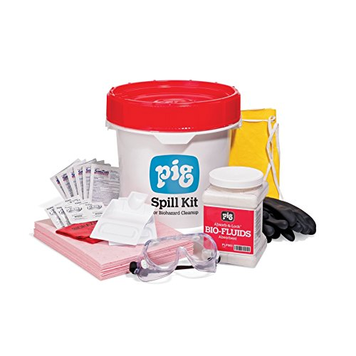 Biohazard-Spill Kit by New Pig - Includes PPE & 5-Gallon Bucket