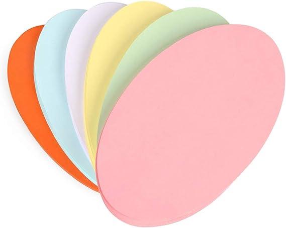 ewtshop/® Lot de 250 cartes de pr/ésentation ovales ovales 19 x 11 cm pour une pr/ésentation professionnelle 6 couleurs