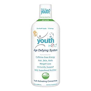 youthH2O - Age Defying System , Anti-Aging , Prevent Hair Loss , Great Skin Care , Glossy Hair & Nail , Best Biotin added Product for Skin , Hair & Nail - 30oz , One Month Supply