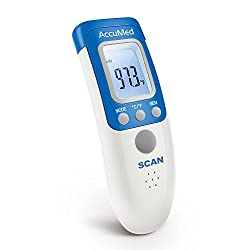 AccuMed Non-Contact, Instant-Read Handheld Infrared Medical Thermometer - 7-in-1 Functionality for Body, Surface, Room Measurements. Professional Accuracy for Home Medical Use, FDA Approved