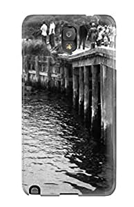 Awesome Photography Black And White Flip Case With Fashion Design For Galaxy Note 3