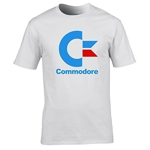 Days Geek Commodore Shirt la Logo Dbut Chic t Blanc of Informatique Naughtees de Vtements Gardiens 85AfxwWq7