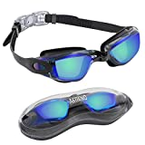 Aegend Swim Goggles, Swimming Goggles No Leaking Anti Fog Adult Men Women Youth
